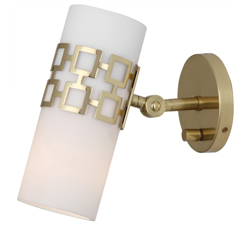 Jonathan Adler Parker Wall Sconce Antique Brass Gold Lighting