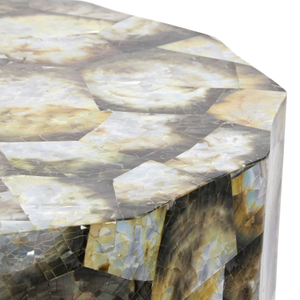 made goods enzo silver mother of pearl stool seating detail