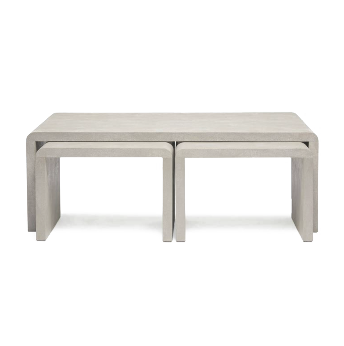made goods harlow nesting coffee table ivory shagreen