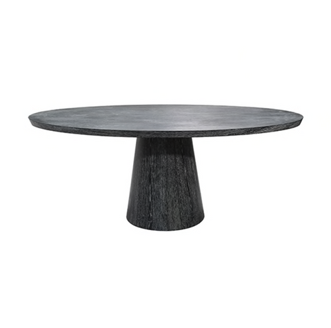 worlds away jefferson dining table black cerused oak