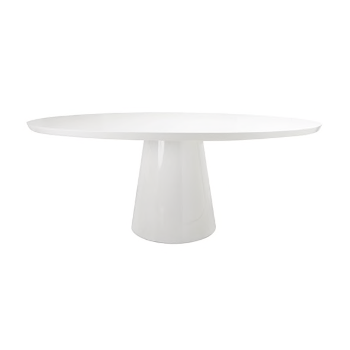 worlds away Jefferson dining table white lacquer