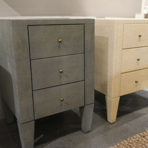 Sorin 3-Drawer Single Nightstand Castor Gray