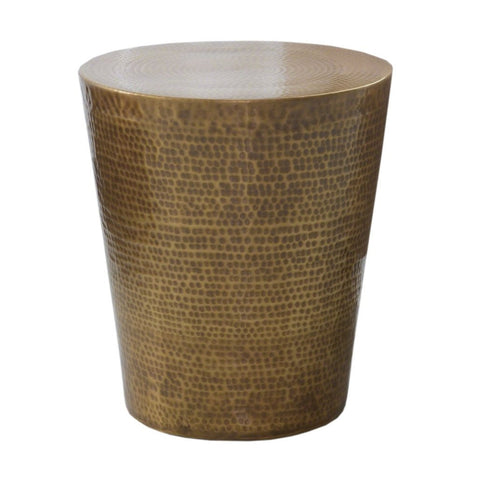 Studio A Izmir Hammered Side Table Antique Brass 7.90163
