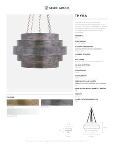 made goods thyra chandelier tear sheet