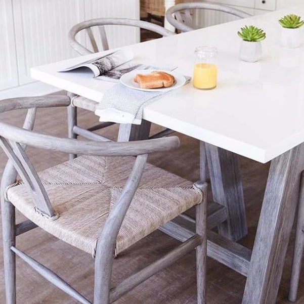 four hands muestra chair gray rattan dining chair