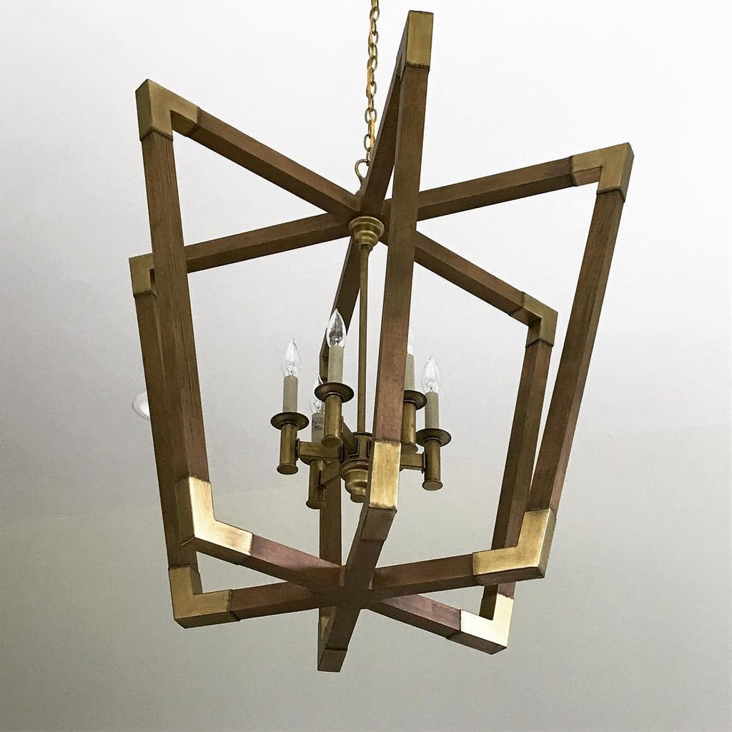 currey bastian chandelier medium wood brass