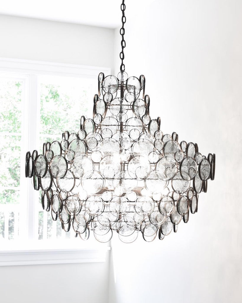 currey and company galahad chandelier glass iron entry