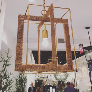 currey and company purebred chandelier square geometric