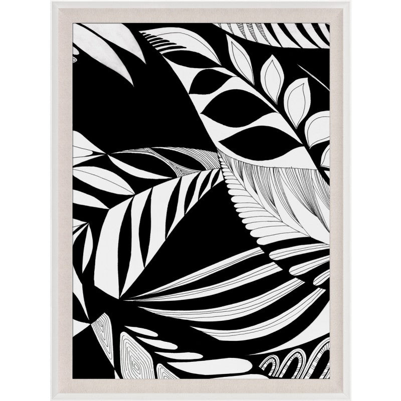 natural curiosities modern paradise framed nature leaves 1