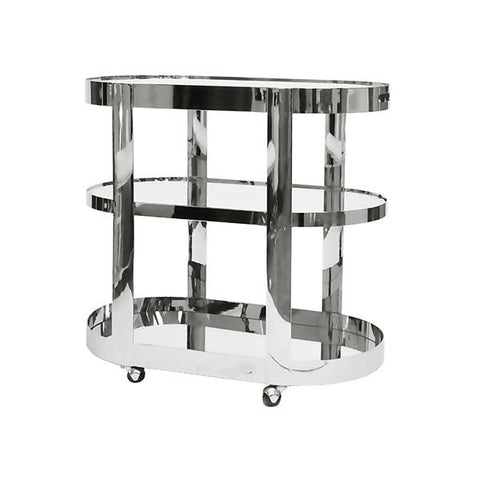 worlds away hugh bar cart nickel angle