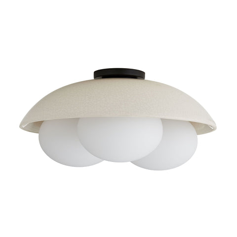 arteriors glaze large flush mount