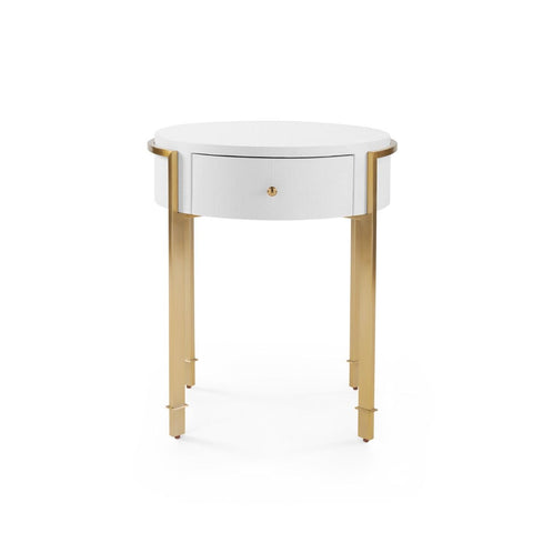 bungalow 5 bodrum side table white