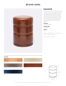 Made Goods Vaughn Stool Tearsheet