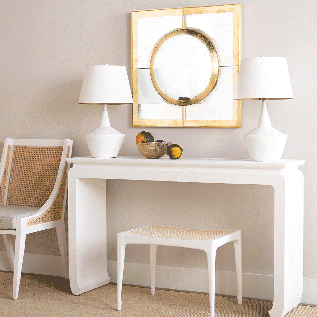 bungalow 5 Elina console white foyer
