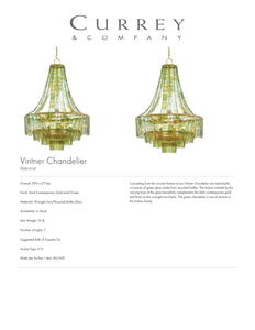 Currey & Company Vintner Chandelier Green Tearsheet
