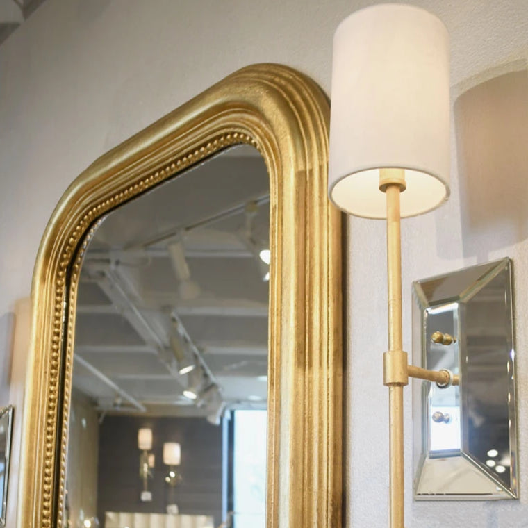 worlds away Virginia wall sconce gold mirror bathroom bedroom