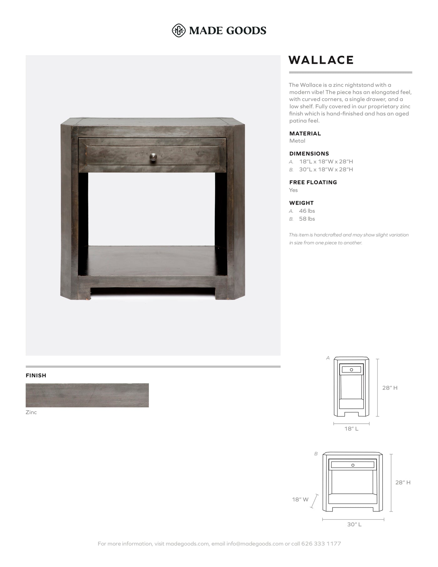 Made Goods Wallace Nightstand Tearsheet