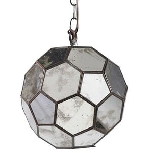 worlds away knox pendant antique mirror round faceted hanging