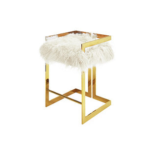 worlds away emmett counter stool brass white fur