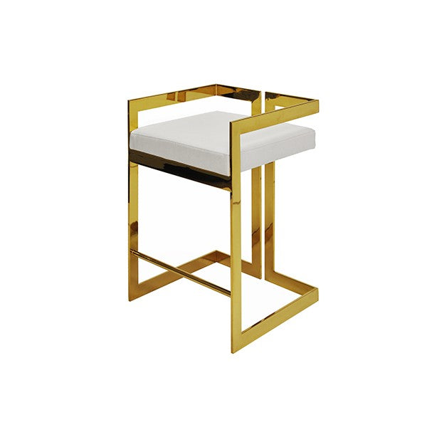 worlds away emmett counter stool brass white leather