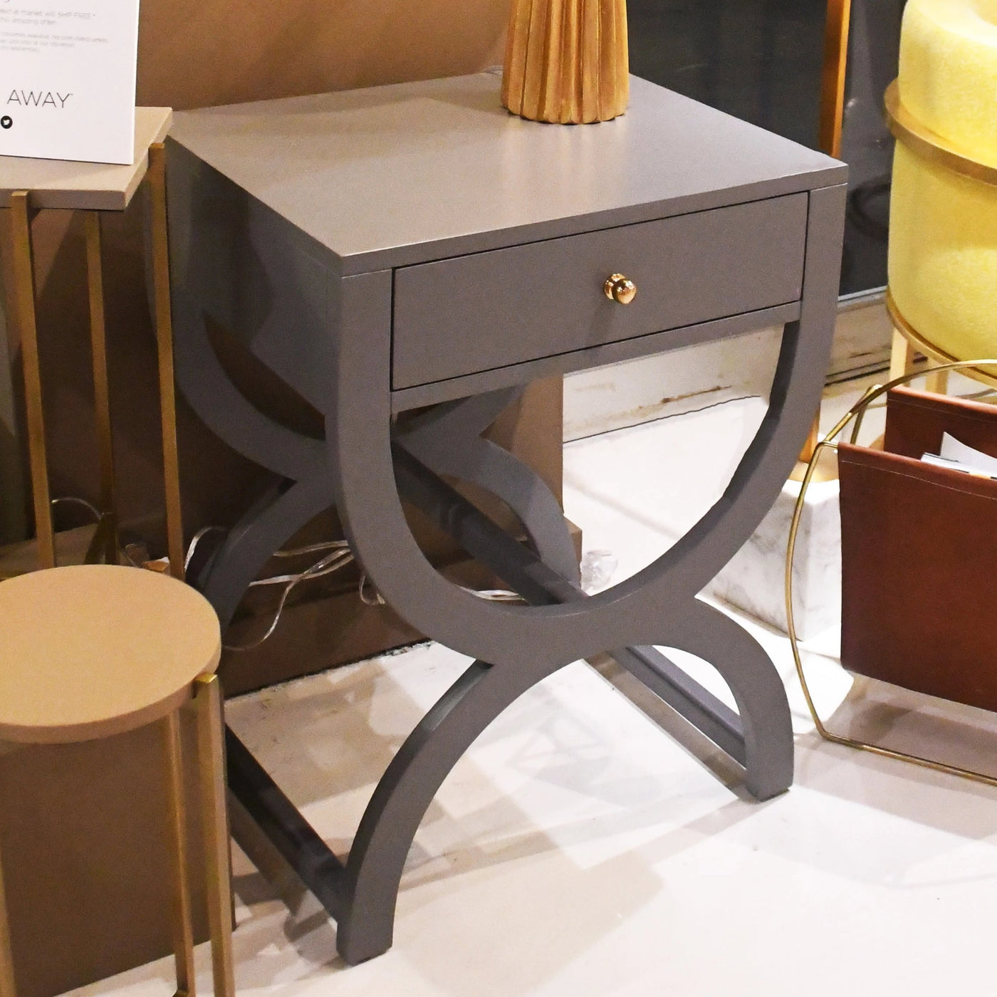 worlds away alexis side table grey