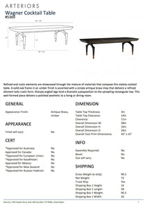 arteriors wagner cocktail table tearsheet