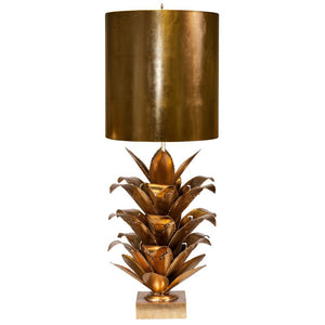 worlds away arianna table lamp gold leaf accent lighting