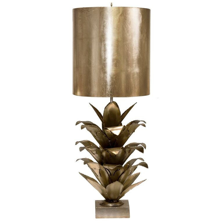 worlds away arianna table lamp silver leaf accent lighting