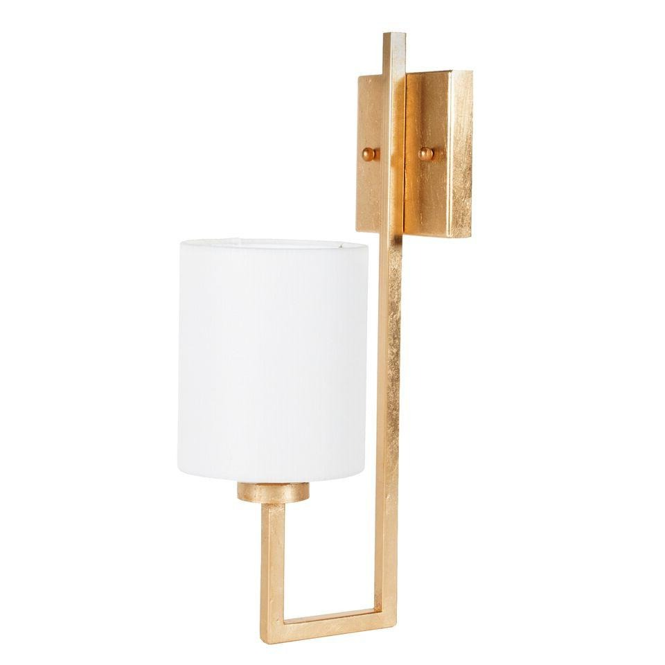 worlds away beckham gold wall sconce gold leaf modern