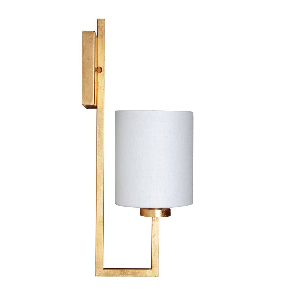 worlds away beckham gold wall sconce gold leaf modern side view