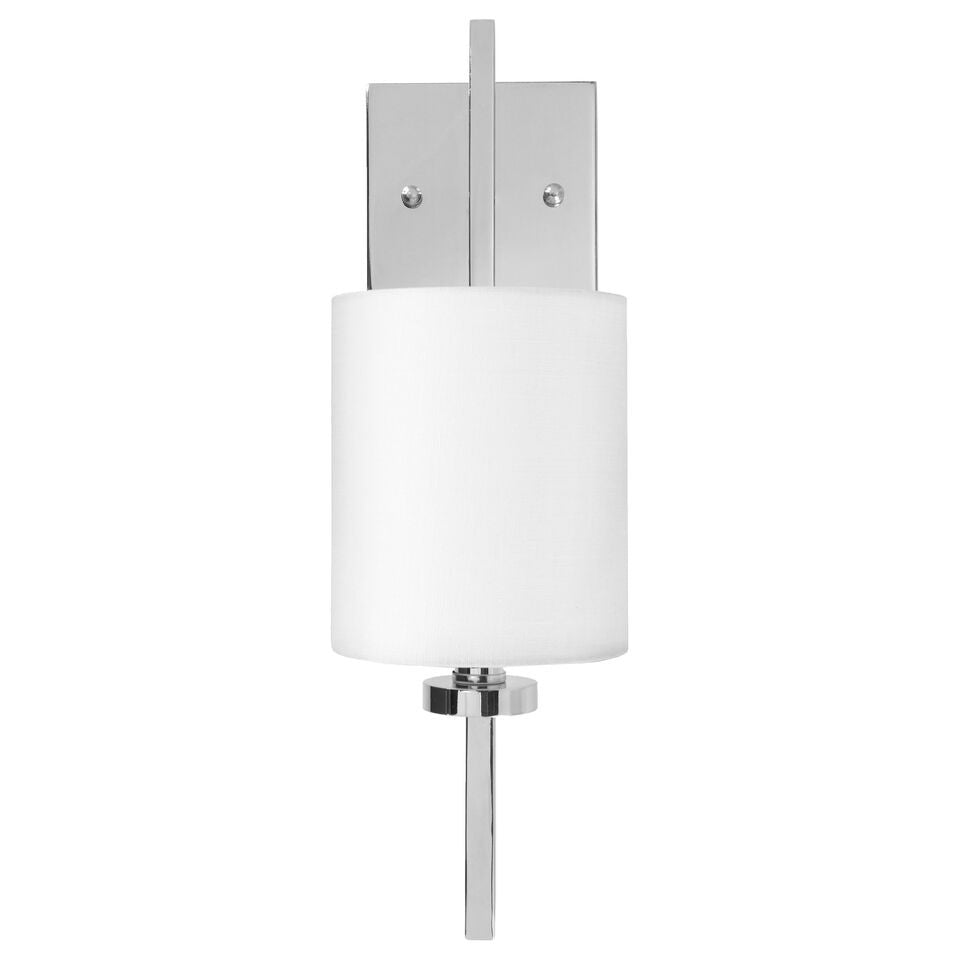 worlds away beckham nickel wall sconce modern front view