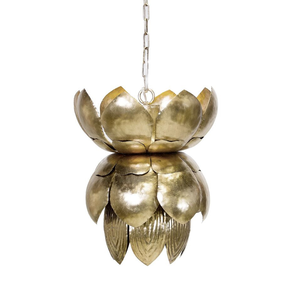 worlds away blossom silver leaf pendant light flower