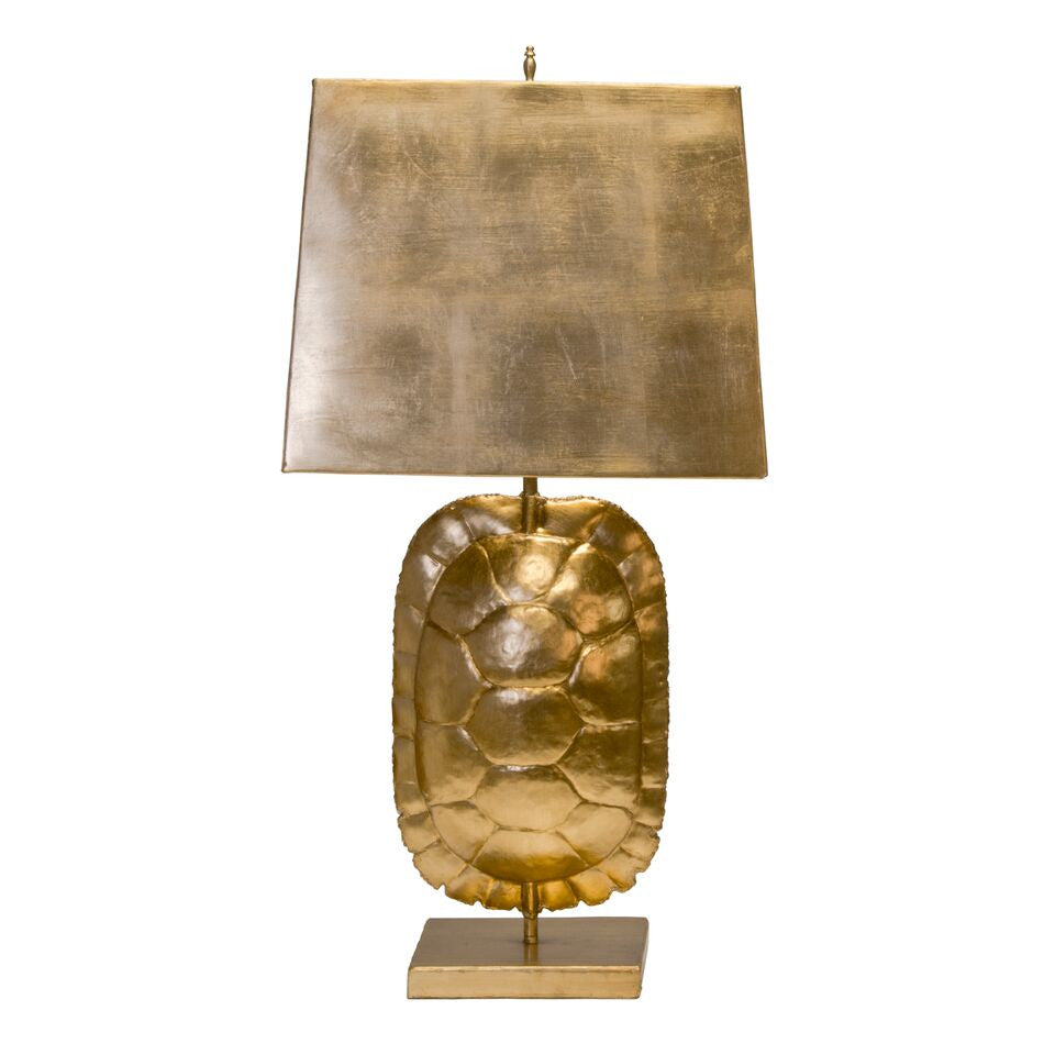 Worlds Away Cecile Shell Tortoise Lamp Gold Clayton Gray