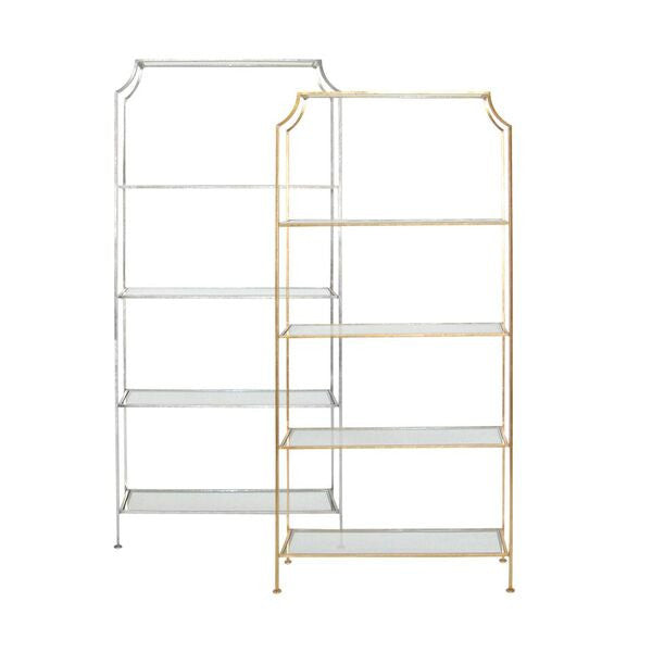 Worlds Away Chloe Etagere Gold Leaf Clayton Gray Home