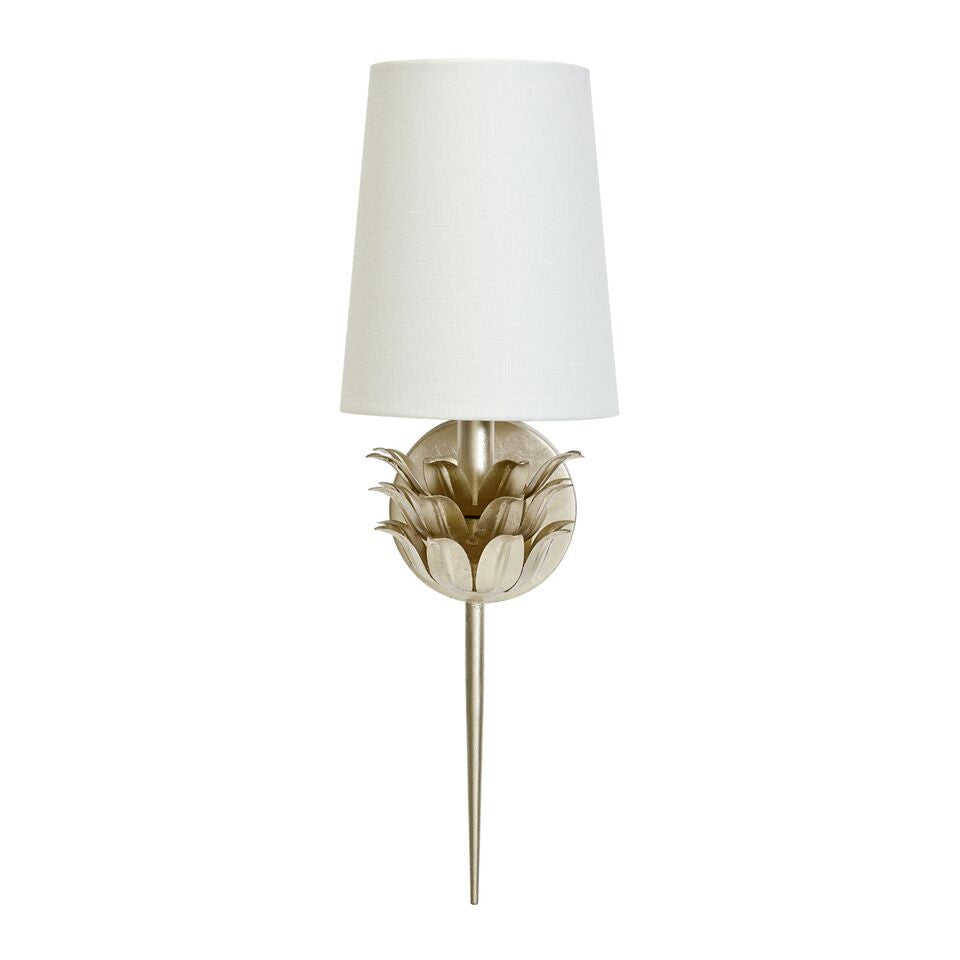 Worlds Away Delilah Sconce Silver Leaf Clayton Gray Home