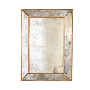 worlds away dion antique gold leaf mirror rectangular wall