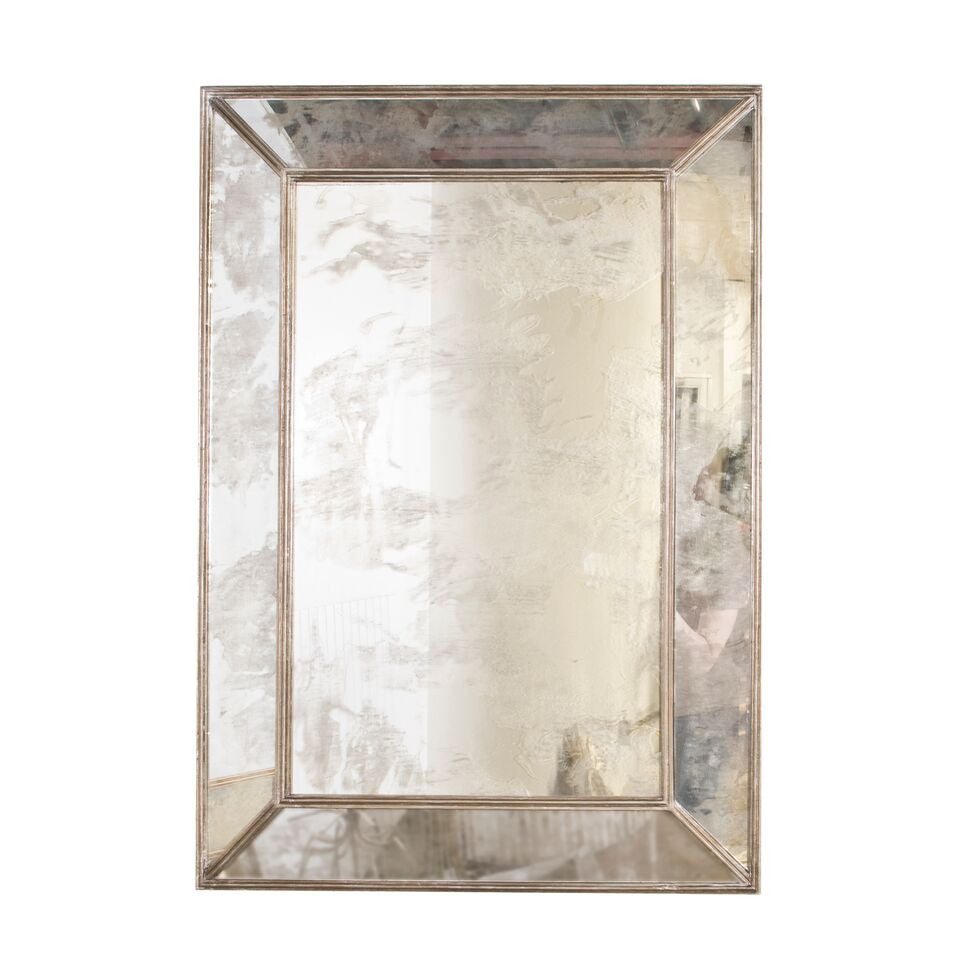 worlds away dion antique silver leaf mirror vintage metallic