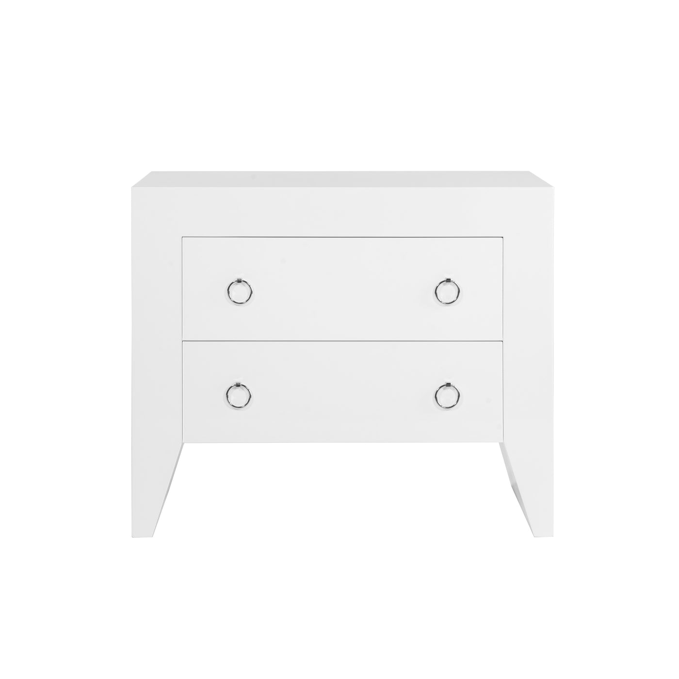 worlds away easton white side table nickel nightstand bedside