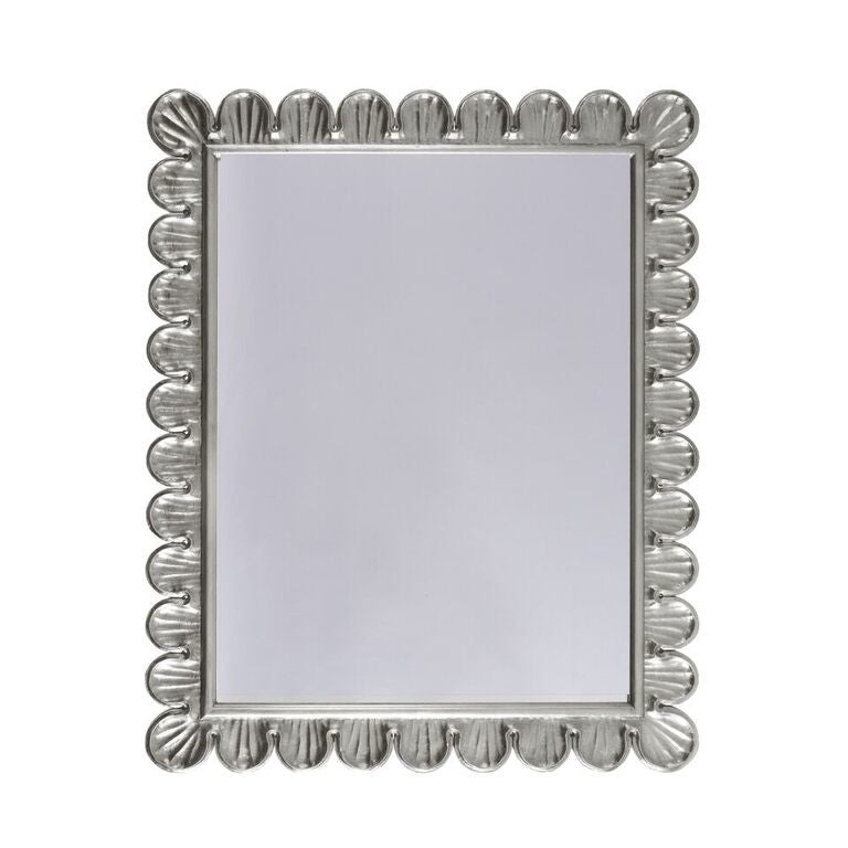 worlds away eliza wall mirror silver accent decor WA ELIZA S wall mirror silver leaf wall mirror