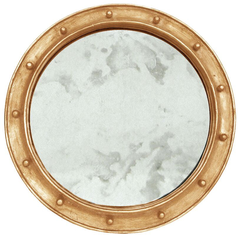 worlds away federal mirror gold leaf champagne finish round