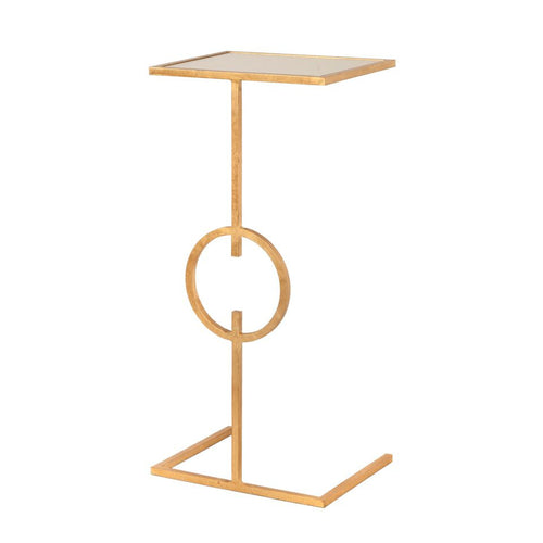 worlds away georgia gold leaf cigar table mirror top side table