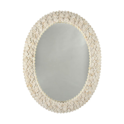 worlds away heather oval wall mirror classic round bone