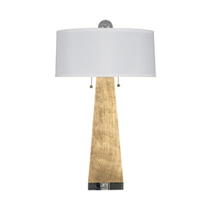 Worlds Away JILL Table Lamp Gold Leaf