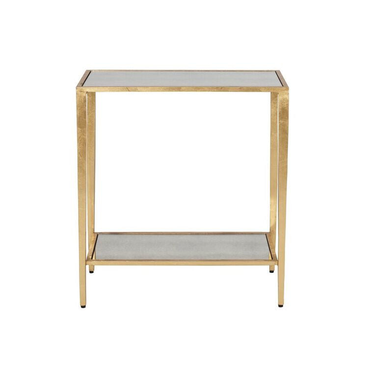 worlds away joyce side table gold leaf mirrored shelves WA JOYCE G Joyce Side Table Gold Leaf furniture