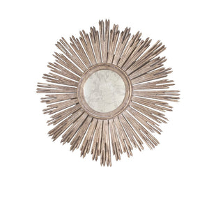 worlds away margeaux round silver leaf mirror antiqued metal