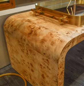 Worlds Away Newbury Coffee Table Burl Wood