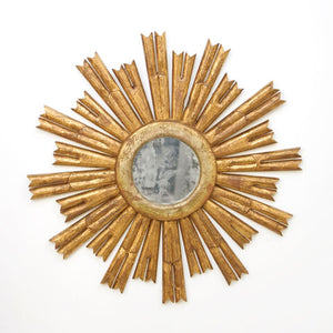 worlds away rinaldo round gold leaf mirror antiqued metal