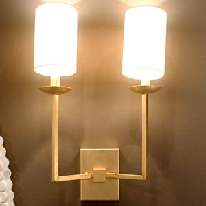 Worlds Away Stanley Wall Sconce Gold Leaf