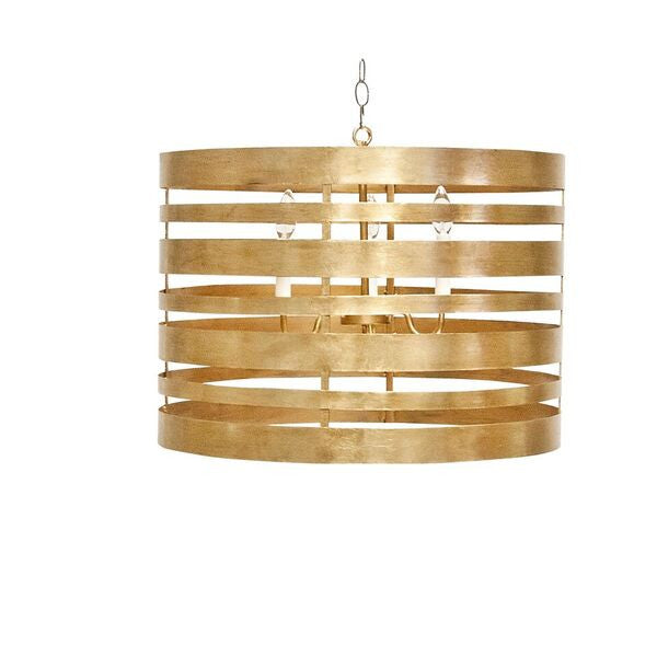 worlds away turner pendant gold leaf metal striped lighting off TURNER G
