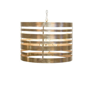 worlds away turner pendant gold leaf metal striped lighting on TURNER G